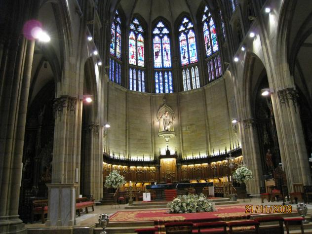 Altar mayor de la catedral del buen pastor san sebastian - El tiempo para manana en san sebastian guipuzcoa ...