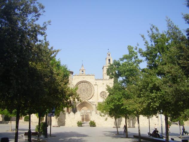 Vista de de la iglesia de frente sant cugat del valles - Temperatura actual en sant cugat del valles ...