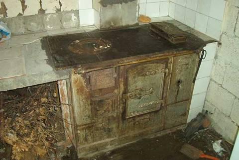 Cocina de le a pozos - Cocina economica lena ...