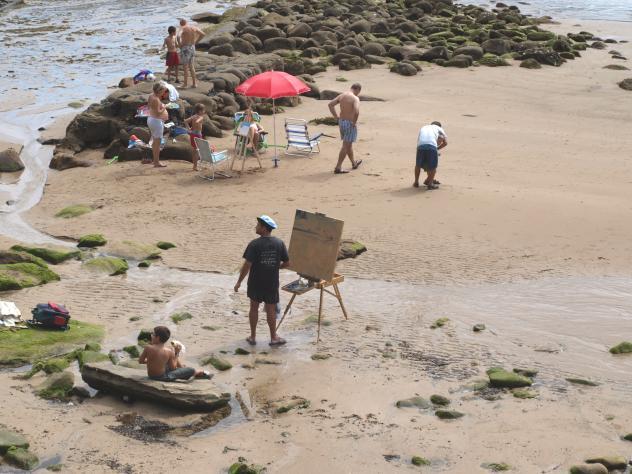 Pintores en la playa tazones asturias - Pintores en asturias ...