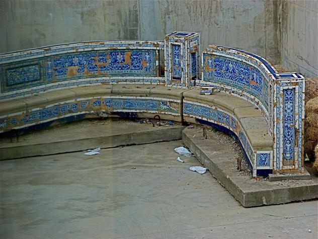 Banco redondo museo del azulejo onda - Onda castellon azulejos ...