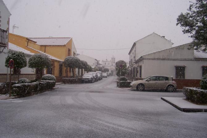 La calle los colonos nevada los villares de andujar - Tiempo los villares jaen ...