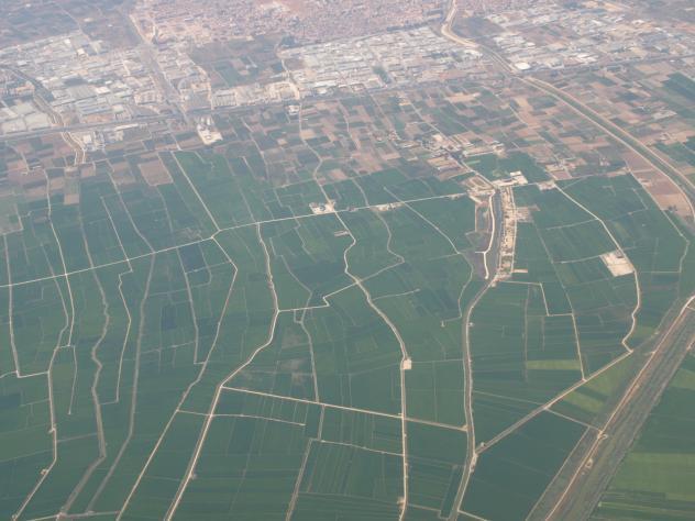 Los arrozales desde el aire catarroja - El tiempo en catarroja valencia ...