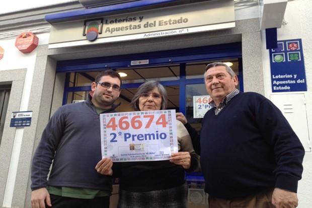 los loteros con el segundo premio de El Niño, HINOJOSA DEL DUQUE