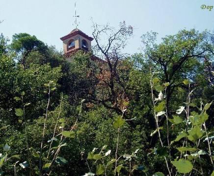 Casa rosa vista desde la fuente santa catalina montornes - Casas montornes del valles ...
