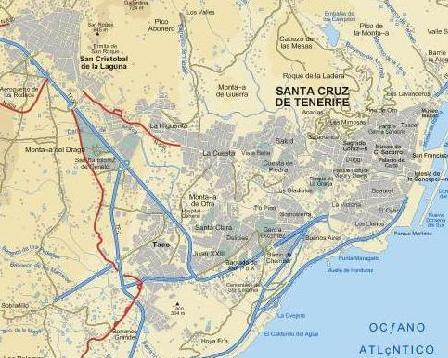 Plano rea metropolitana sc la laguna santa cruz de tenerife for Donde queda santa cruz