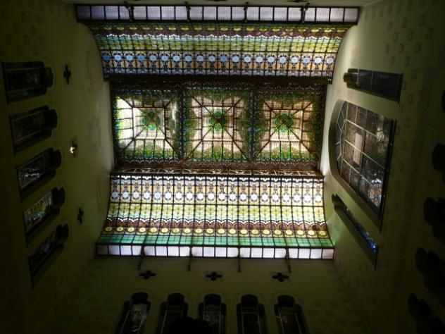 Techo del edificio de la caixa sabadell barcelona for Oficina la caixa sabadell