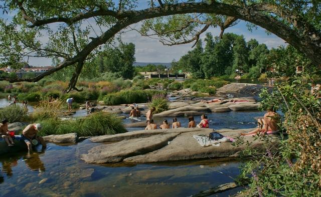 piscinas naturales en el r o tormes puente del congosto