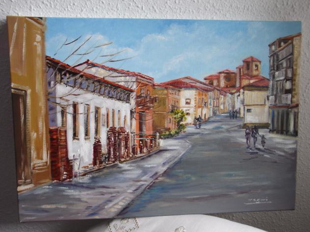Armario Keter Jardin ~ pintura de una calle, HERVIAS
