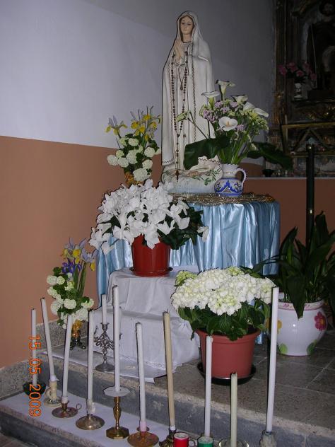 Decoracion Altar Para La Virgen ~ Altar preparado para la Novena de la Virgen de F?tima