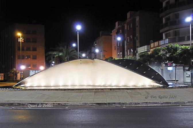 Fuente De La Alcachofa Nocturna Quart De Poblet
