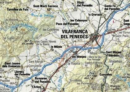 Situacion en el mapa arbos l 39 arbo - El tiempo en l arboc ...
